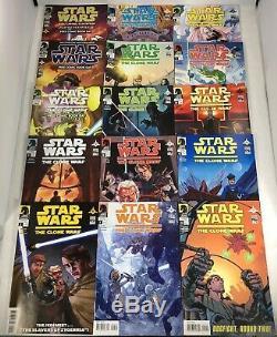 15 Star Wars Clone Wars #1-12 Complete Set + 3 Fcbd 1 Shots 1st Ashoka Tano Vf