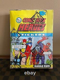 1975 Topps COMIC BOOK HEROES Unopened Wax Box of 36 Packs BBCE Avengers
