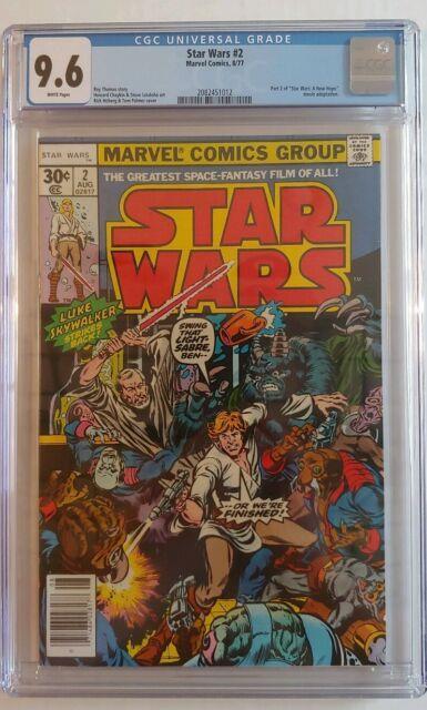 1977 Marvel Star Wars #2 Cgc 9.6 White Pages Pristine Slab