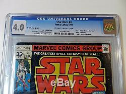 1977 Marvel Star Wars #4 35 Cent Variant CGC 4.0 Off White to White