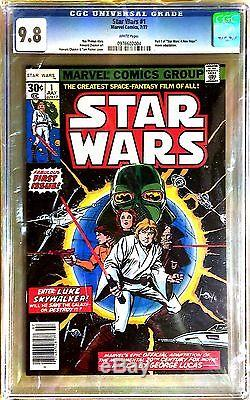 1977 Star Wars 1 #1 First Issue Marvel Comics Cgc 9.8 White Pages Pristine Book