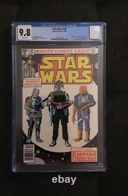 1980 MARVEL STAR WARS #42 ESB 1ST BOBA FETT CGC 9.8 Newsstand Newstand