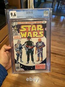 1980 Star Wars Vintage Comic Book #42 Boba Fett Mandalorian CGC 9.6 Newstand