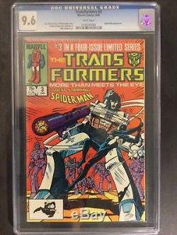 1985 Marvel Transformers #3 Amazing Spider-man Crossover Cgc 9.6 Star Wars Back
