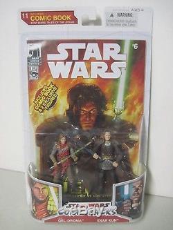 2009 Hasbro Star Wars Comic Pack 11 Qel-droma & Exar Kun Tales Of The Jedi #6