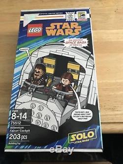 2018 Sdcc Comic Con Exclusive Lego Star Wars Millennium Falcon Cockpit Han Solo