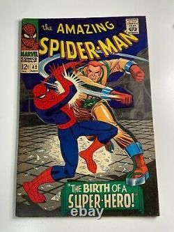 Amazing Spider-Man #42 Silver Age Marvel Comic Book Rhino Mary Jane