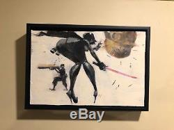 Ashley Wood Original PAINTING Star Wars art artist comic threea 3a three A