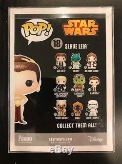 CARRIE FISHER HAND SIGNED FUNKO PRINCESS LEIA SLAVE Star Wars NYC Comic Con 2016