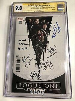 CGC 9.8 SS Star Wars Rogue One Adaptation #1 Variant signed Jones, Whitaker +4