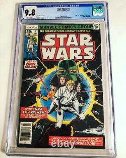CGC 9.8 Star Wars #1 1977 Marvel Comics White Pages