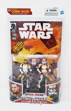 Clone Trooper Lieutenant & Clone Trooper Comic Pack Star Wars 2010 Unopened