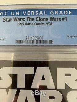 Clone Wars #1 (2008) CGC 9.8 1st Ahsoka Tano Dark Horse