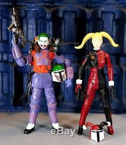Custom Joker & Harley Quinn Mandalorian Action Figures! DC Comics! Star Wars