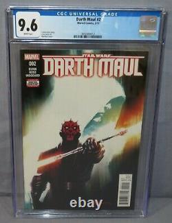 DARTH MAUL #2 (Cad Bane 1st appearance) CGC 9.6 NM+ Marvel Comics 2017 Star Wars