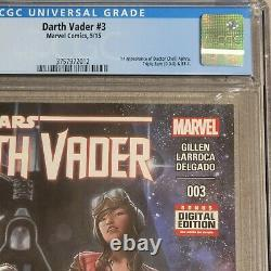 DARTH VADER #3 (Marvel Comics, 2015) CGC 9.8 Doctor Aphra White Pages