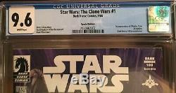 Dark Horse Star Wars Clone Wars #1 Variant Cover Dh100 Cgc 9.6 1st Ahsoka Tano