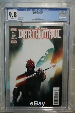 Darth Maul #2 Cgc 9.8 1st Cad Bane 2017 Star Wars Freshly Slabbed