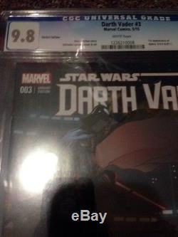 Darth Vader #3 Variant CGC 9.8 & 9.8 Granov Larroca Lot 1st Appearance Aphra