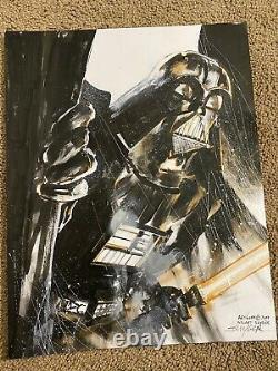 Death Vader Original Art Commission Sketch By Stuart Sayger Star Wars Comic Art