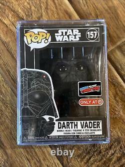 FUNKO POP! Star Wars #157 Darth Vader Futura NYCC STICKER COMIC CON