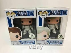 Funko POP! STAR WARS #15 Han Solo #16 Luke Skywalker SET Emerald City Comic Con