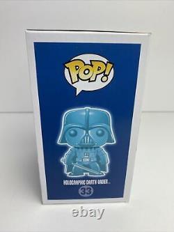 Funko POP! Star Wars #33 Holographic Darth Vader Dallas Comic Con GITD WithStack