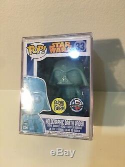 Funko POP! Star Wars 33 Holographic Darth Vader GITD Dallas Comic Con Exclusive