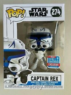 Funko Pop 2018 NYCC New York Comic Con Exclusive Star Wars Clone Captain Rex