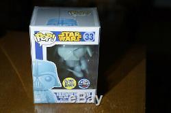Funko Pop #33 Star Wars Holographic Darth Vader Glow Dallas Comic Con Expo