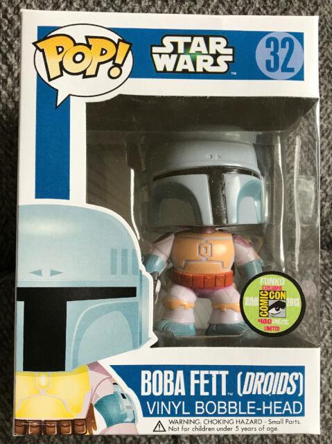 Funko Pop Exclusive Star Wars Boba Fett Droids 2013 Sdcc San Diego Comic Con Le