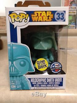 Funko Pop! Holographic Darth Vader Star Wars #33 Dallas Comic Con GITD Exclusive