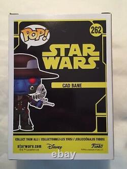 Funko Pop Star Wars Cad Bane 262 2018 San Diego Comic Con Exclusive Sticker MINT