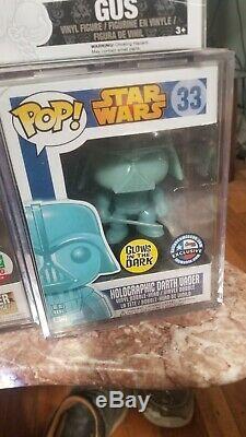 Funko Pop Star Wars Holographic Darth Vader #33 Dallas Comic Con Exclusive GITD