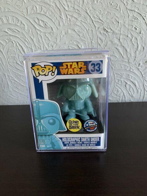Funko Pop! Star Wars Holographic Darth Vader Glow In The Dark Dallas Comic Con