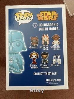 Funko Pop Star Wars Holographic GITD Darth Vader Paris Comics Expo Exclusive