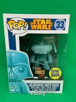 Funko Pop! Vinyl Holographic Vader Glow in the dark Paris Comics Expo Star Wars