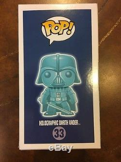 Funko Pop Vinyl STAR WARS Darth Vader Holographic Paris Comic Con GITD