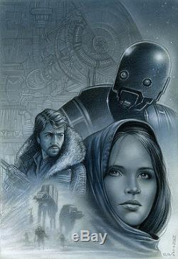 Go Rogue Original Star Wars Illustration by Monte Moore