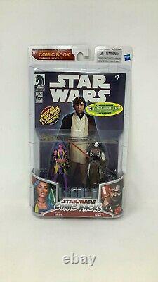 HASBRO Star Wars DARTH NIHL and DELIAH BLUE Comic Packs