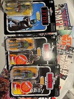 HUGE Star Wars Boba Fett LOT KENNER Moc SIGNED 12 Figures, Comics, and more