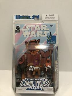 Hasbro Star Wars 3 3/4 Comic Pack Machook, Keoulkeech, Kettch Ewoks Walmart Ex