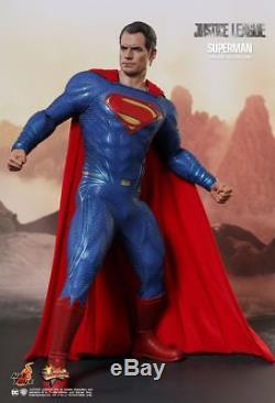 Hot Toys DC Comics Justice League Superman Clark Kent Henry Cavill Led Eyes 1/6