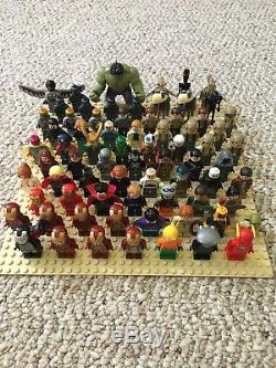 Huge Lego Minifigure Lot Marvel Star Wars DC Comics Pirates of the Caribbean CMF
