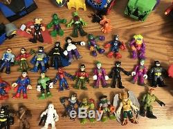 Huge Lot Fisher Price Imaginext Batman Joker Marvel DC Comics Star Wars +