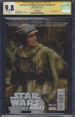 Journey to Star Wars The Force Awakens #2 Photo cover CGC 9.8 SS Carrie Fisher