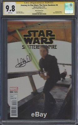 Journey to Star Wars The Force Awakens #4 photo cover CGC 9.8 SS Mark Hamill