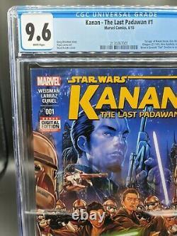 Kanan The Last Padawan #1 CGC 9.6 STAR WARS 1st app of Kanan, Ezra, Sabine +more