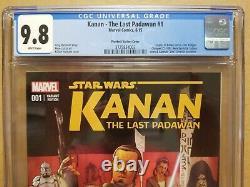 Kanan The Last Padawan #1 Cgc 9.8 125 Plunkett Variant 1st Sabine Wren & Rebels