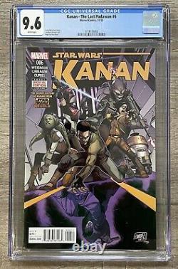 Kanan The Last Padawan #6 CGC 9.6, 1st Sabine Wren, NM+, Marvel, 2015, Star Wars